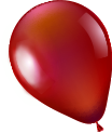 red balloon deco in Left